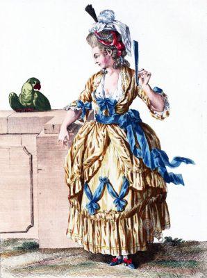 Robe Diane, Rococo gown, 18th century fashion, costue