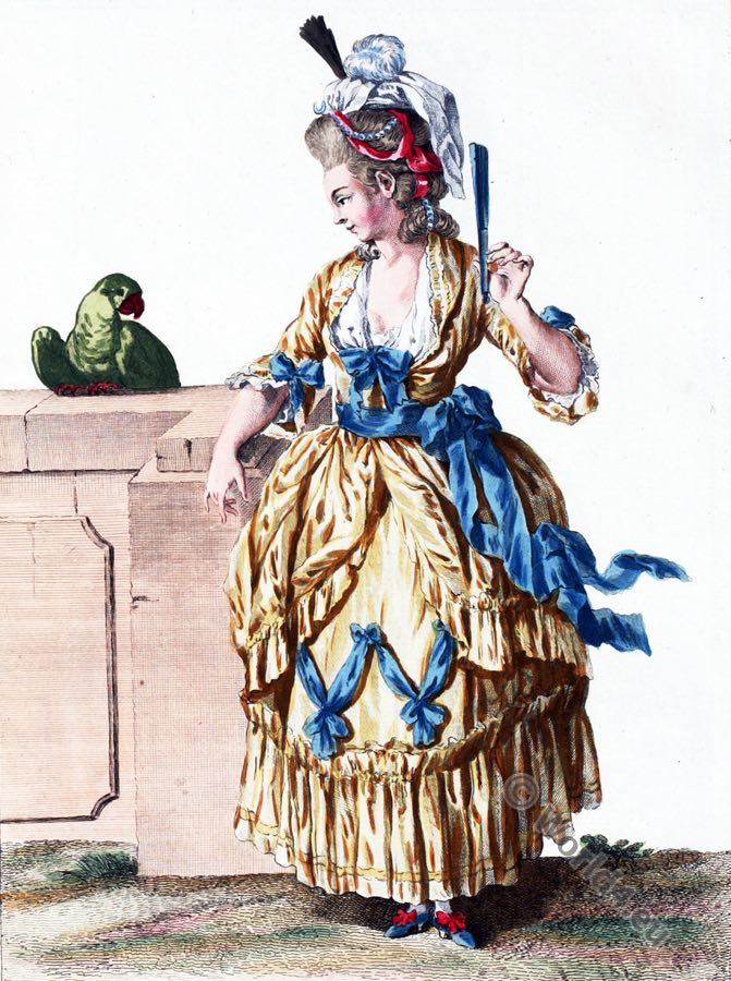 Robe, Diane, Rococo gown, 18th century, fashion, costume