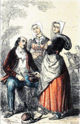 Pluvigner, Bretagne, Traditional costumes, France