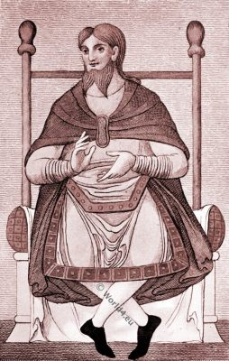 Bifid beard, Befurcated, Anglo-Saxon, costume, history, England medieval fashion