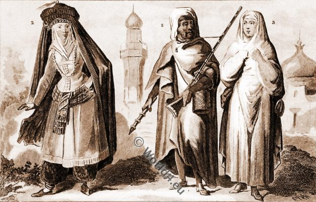 Arabian inhabitants, Arab, Medina, Mecca, traditional clothing, 19th century