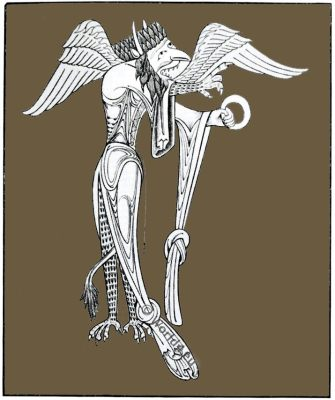 Satan, Satanic, majesty, Medieval, manuscript, 12th century