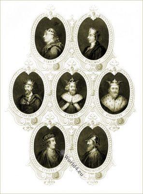 Saxon kings, EGBERT, ETHELWOLF, ETHELBALD, ALFRED the GREAT, ATHELSTAN, ETHERED and EDWARD the ELDER