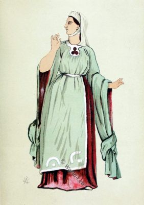 England costume, fashion, Henry I,. 12th century