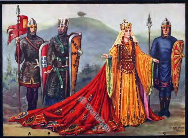 Empress Matilda, female regent, England, history, Middle ages, 12th century, costumes