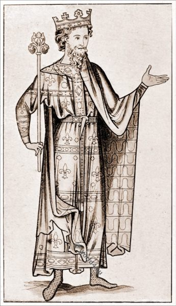 Regal costume, medieval England fashion, 12th century, middle ages,