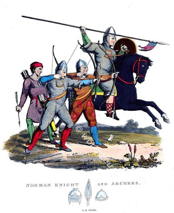 Norman knight, archers, Battle, Hastings, England 11th century fashion