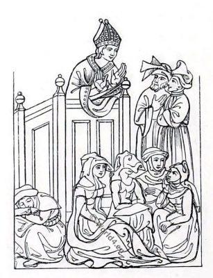 14th century costumes. England medieval fashion, Henry Shaw
