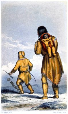 Woman, Children, Native American, Native indian, Gwich'in, Gwitchin, Saviah, Alaska, Kutchin, Kutcha-Kutchi