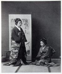 daughter, higher classes, Japan, historical, Kimono, costume, Kazuma Ogawa, Photographer,