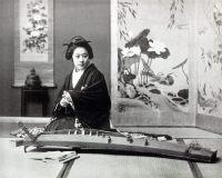 Koto playing, historical, historic, Japan, costume, Kazuma Ogawa, Photographer,