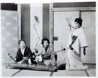 Musical Entertainment, Geisha, historical, historic, Japan, costume, Kimono, Kazuma Ogawa, Photographer,