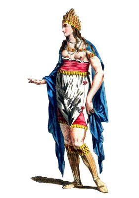 Habit, Woman, Africa, Habitus Variarum, 16th century, Thomas Jefferys