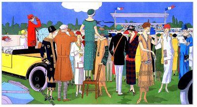 Grand Prix, Georges Dœuillet, Jeanne Lanvin, Jean Patou, Premet, Art deco, Fashion history, 1920s, costumes