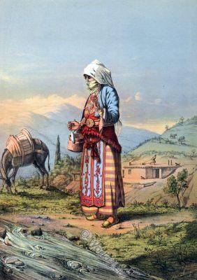 Armenian Peasant Woman, Ottoman costumes, Ottoman Empire, Historical Clothing, Turkey, Costume history