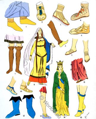 Ancient, merovingian, footwear, fashion, history, Paul-Louis de Giafferri