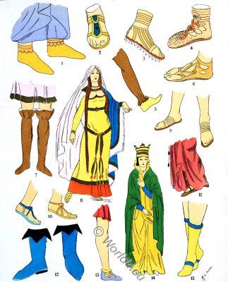 Ancient, merovingian, footwear, fashion, history, Paul-Louis de Giafferri