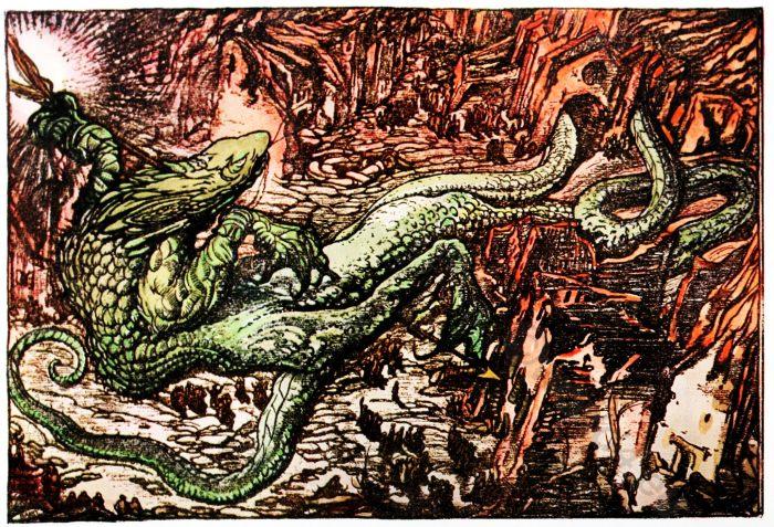 Leon Bakst, Dragon, Russia, Art, culture, 1916,