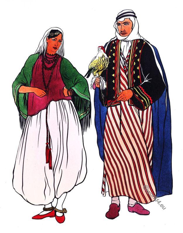 Arabs, Arabian, costumes, dress, aba, kubiyah, sakal