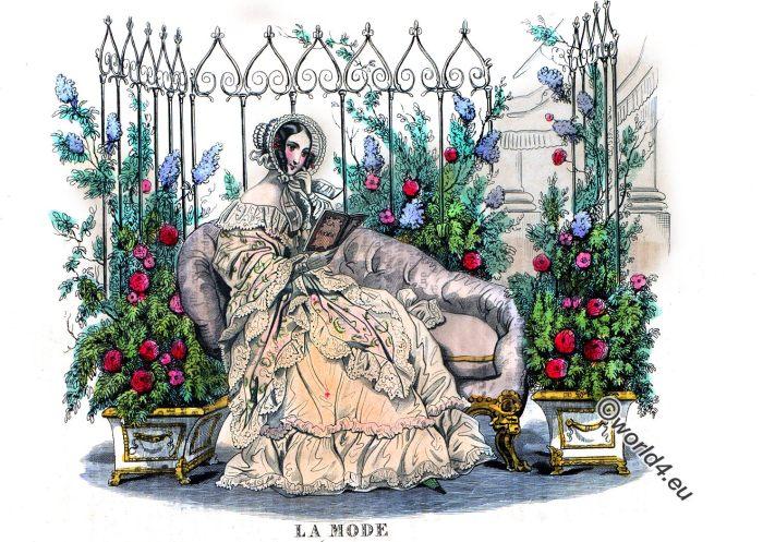 La Mode, Journal, Dames, Modes, Capote, Robe, Coiffure, Romantic, fashion