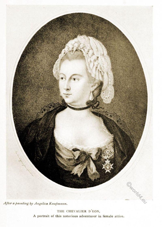Chevalier d'Éon, Angelica Kaufmann, Portrait, Transvestite, Rococo