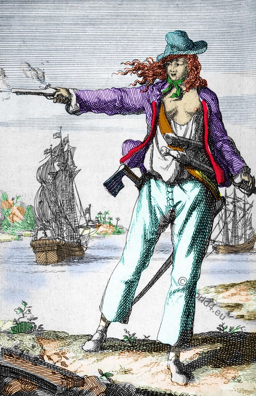 Mary Read Et Anne Bonny : bonny, Bonny, Read., Women, Pirates., Golde, Piracy.