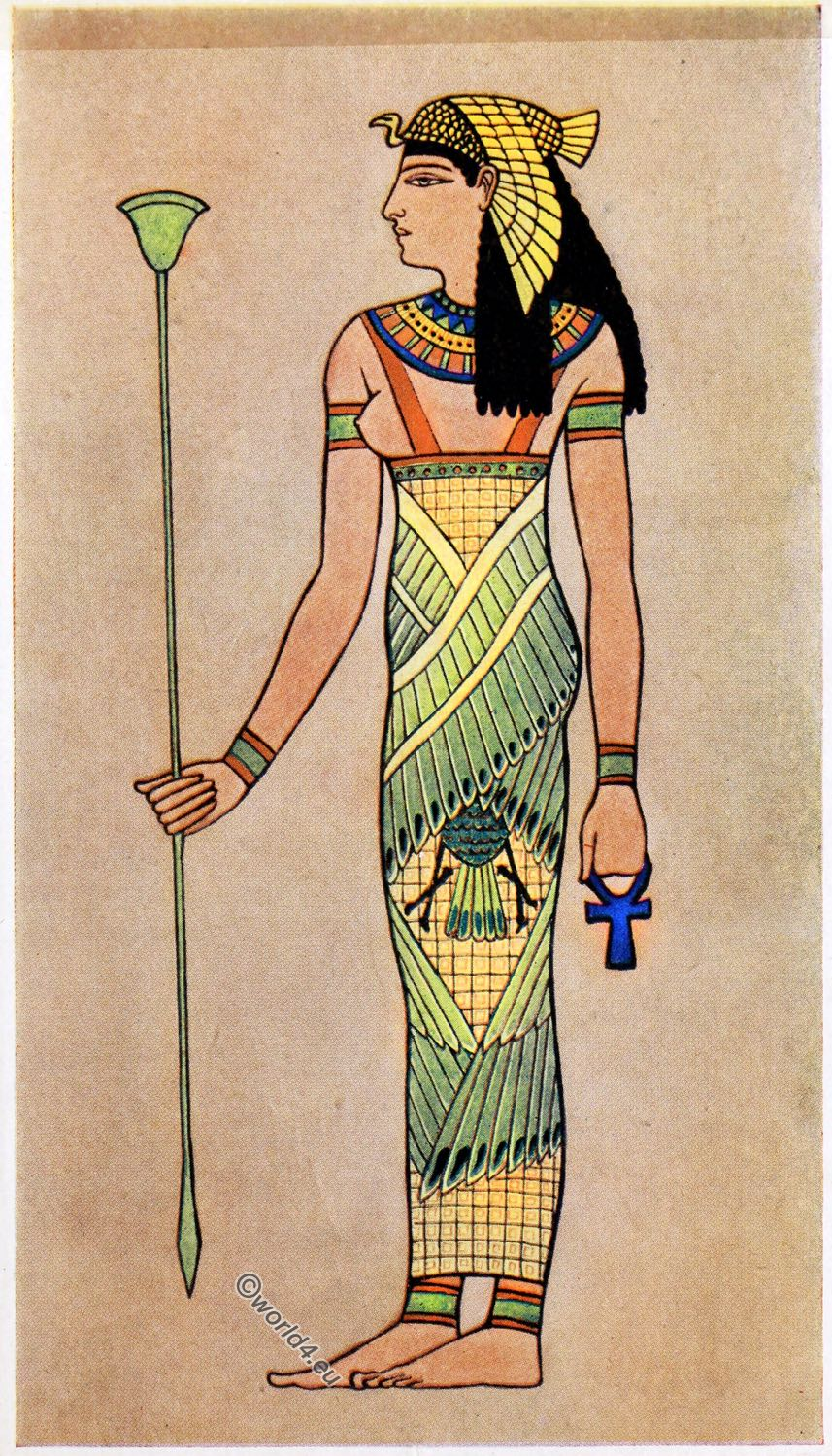 Ancient Egyptian costume and fashion history. Decoration & coloring.