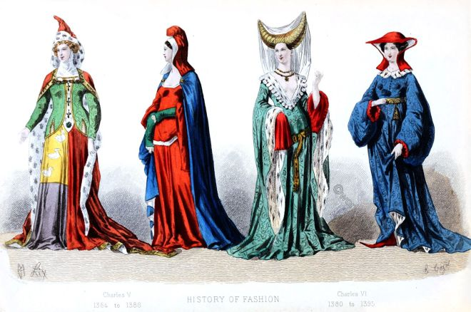 Middle ages, medieval, costumes, fashion, France, history