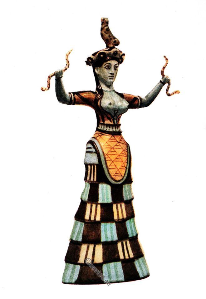 Knossos, Snake, Goddess, Minoan, Antiquity, Matriarchat