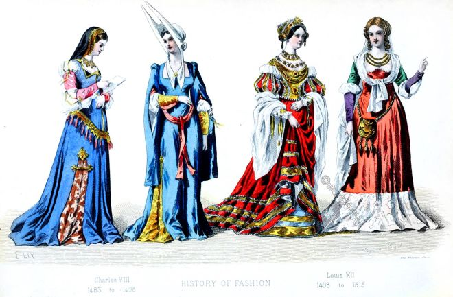 Medieval, fashion history, France