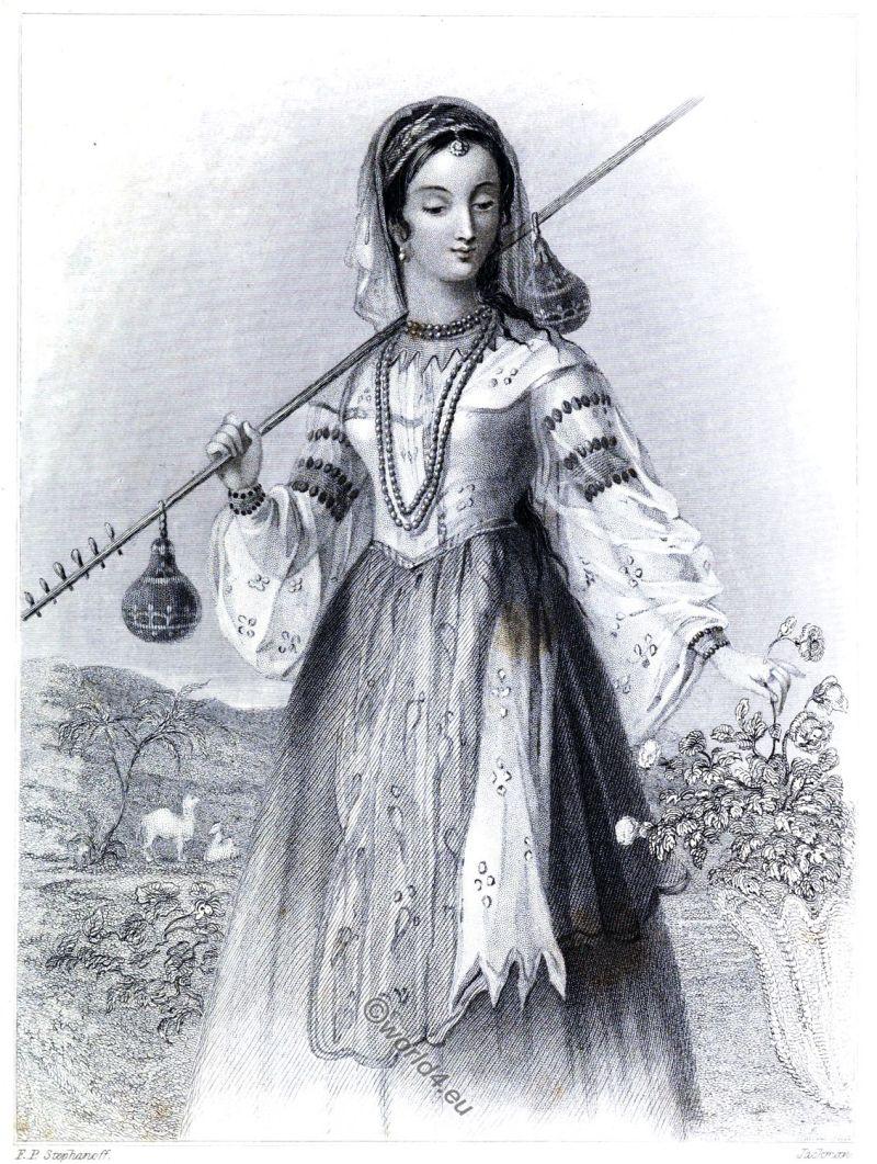 Persian, girl, clothing, costume