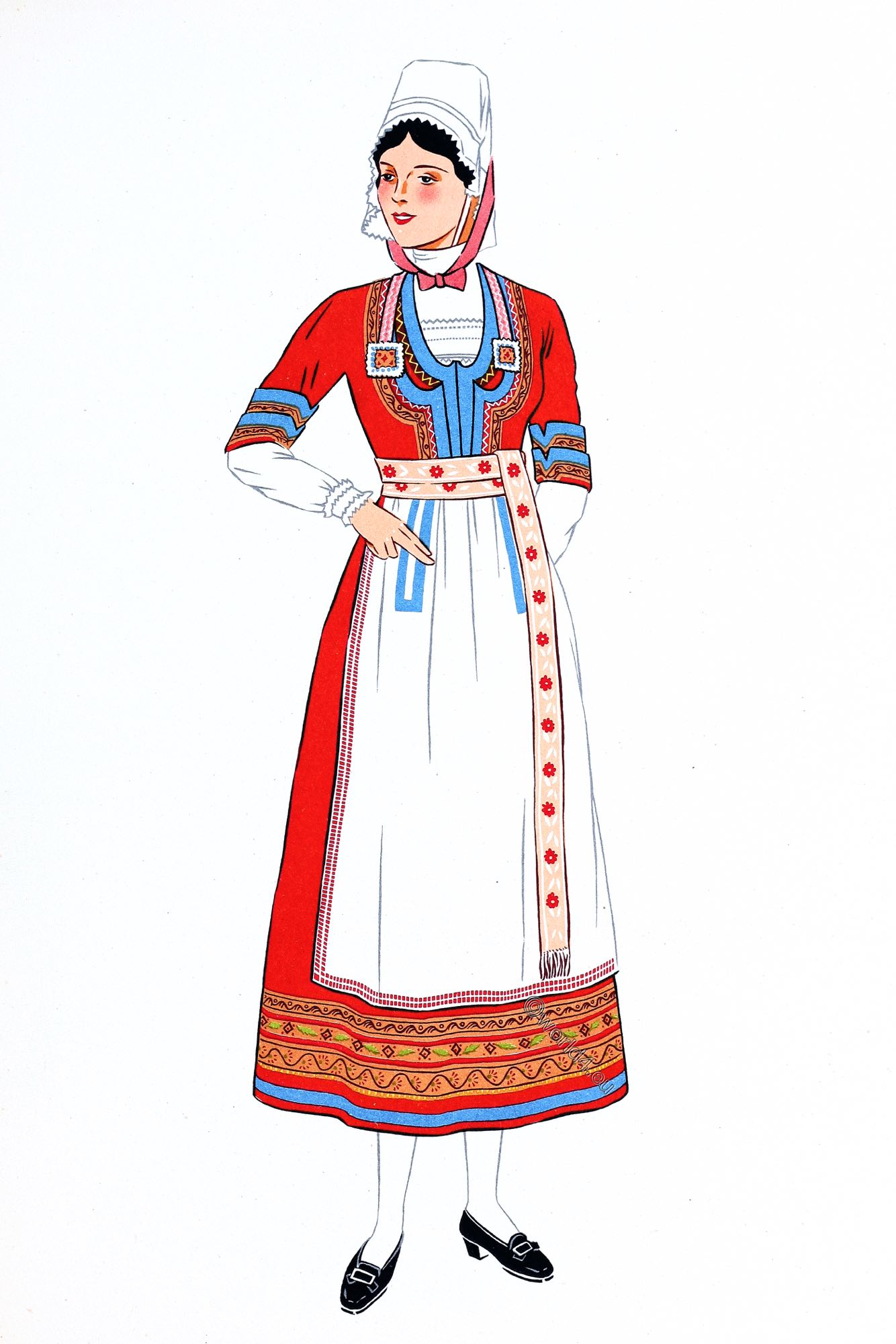 French Costumes From The Department Finistere Bretagne