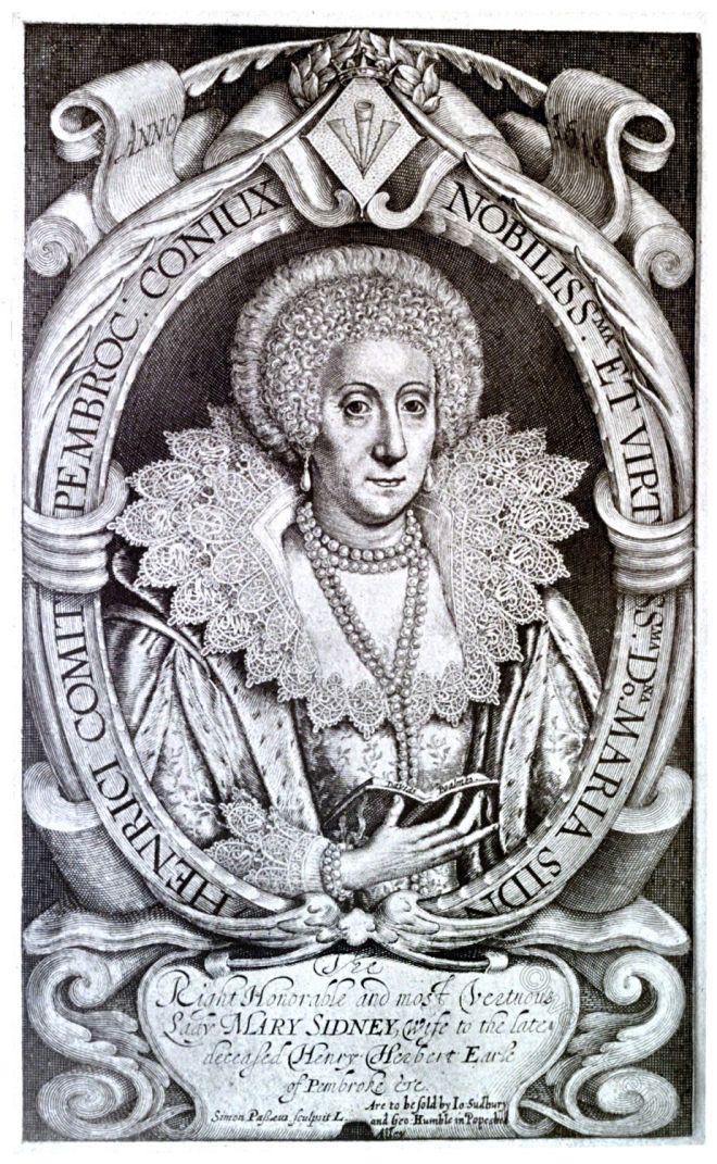 Engraving, Simon Pass, Mary, Sidney, Countess, Pembroke