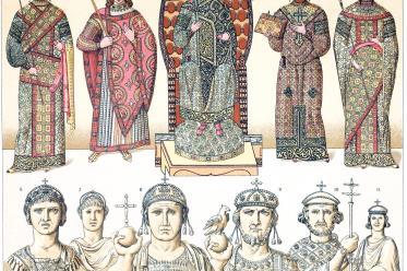 Byzantine, Eastern Roman Empire, costume, clothing, vestments, emperors, empresses,