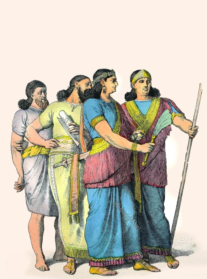 Babylonian, costumes, citizens, nobility