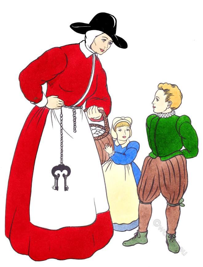 Elizabethan, peasant, costume, Tudor, Renaissance,