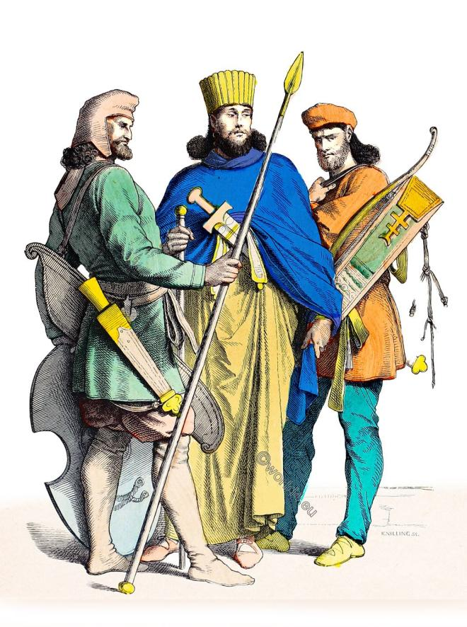 Persian, warriors, nobility, costume, weapon, military, ancient,