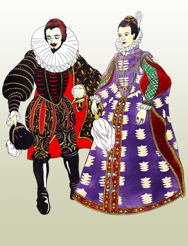 Elizabethan, farthingale, fashion, England, Renaissance, costumes, dress,