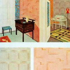 1930s Interior Design Living Room Brown Sets Art Deco Design, Color And Furniture, 1930s.