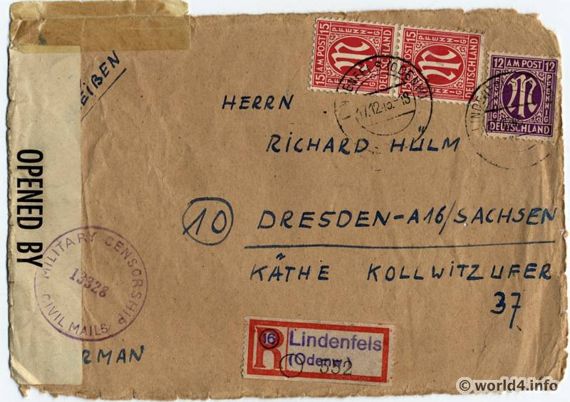 Military censorship cover Germany 1945  Lost and Found
