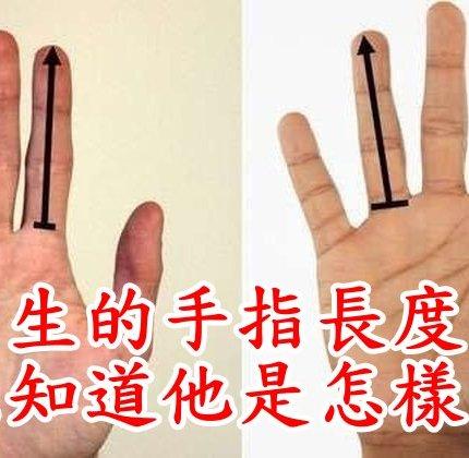 看男生的手指長度可以知道他是怎樣的人