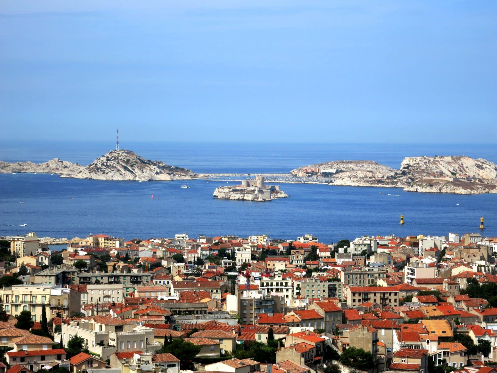 view from Notre Dame de la Garde Basilica Marseille