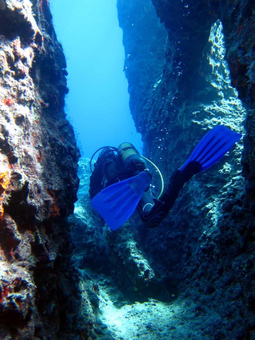 underwater canyon Kas Turkey