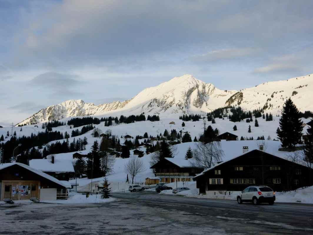 snowy Alps in Switzerland