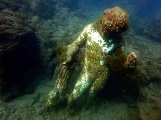ninfeo claudio scuba diving underwater archeological park Baia