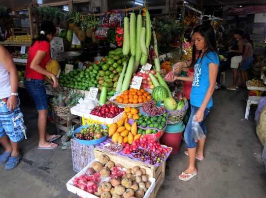 Exotic fruits Dumaguete market Negros Philippines
