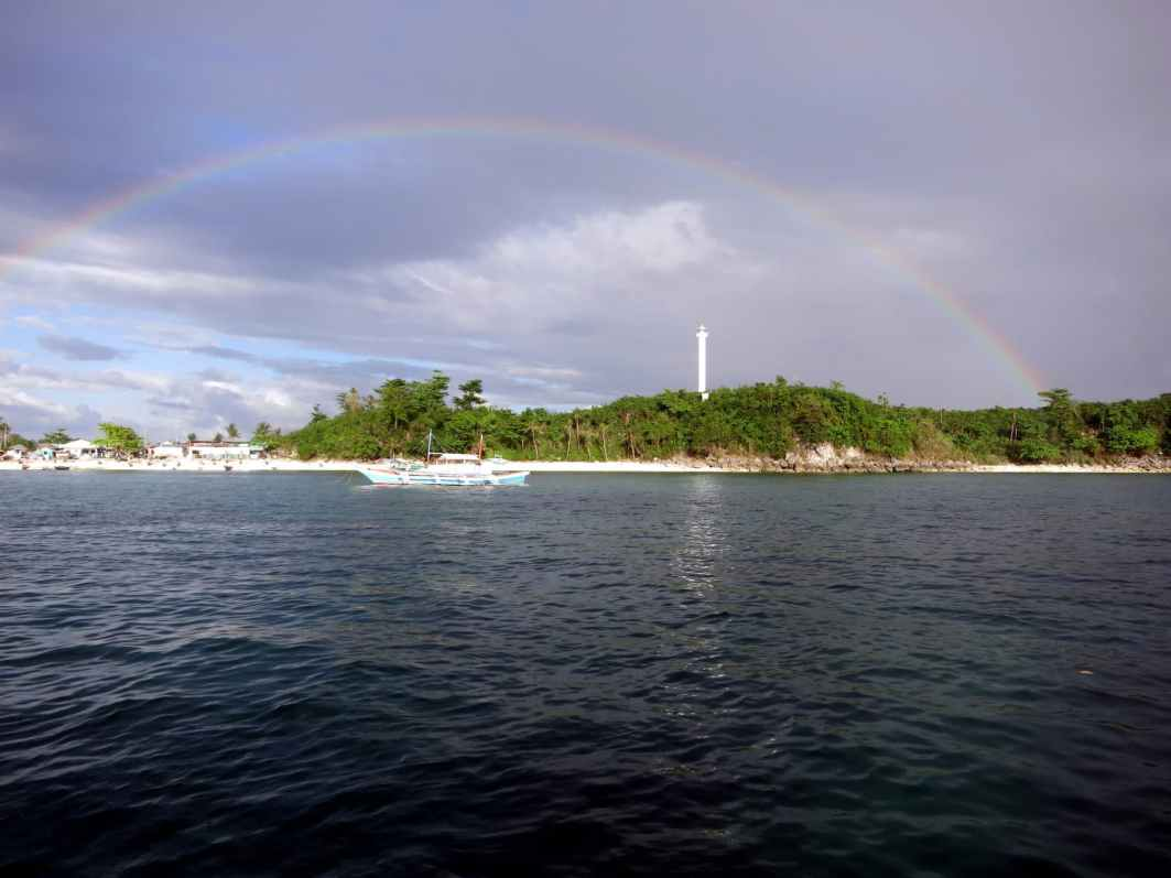 Rainbow Lighthouse Malapascua island Philippines