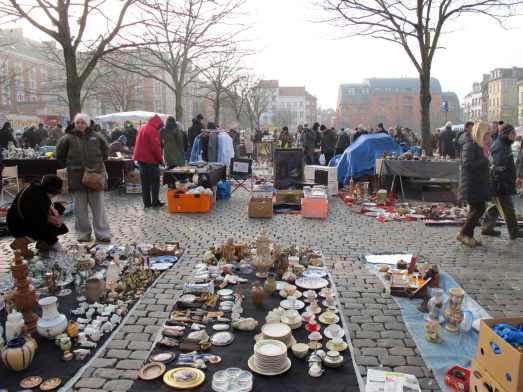 Flea market Place du jeu de Balle Brussels Belgium