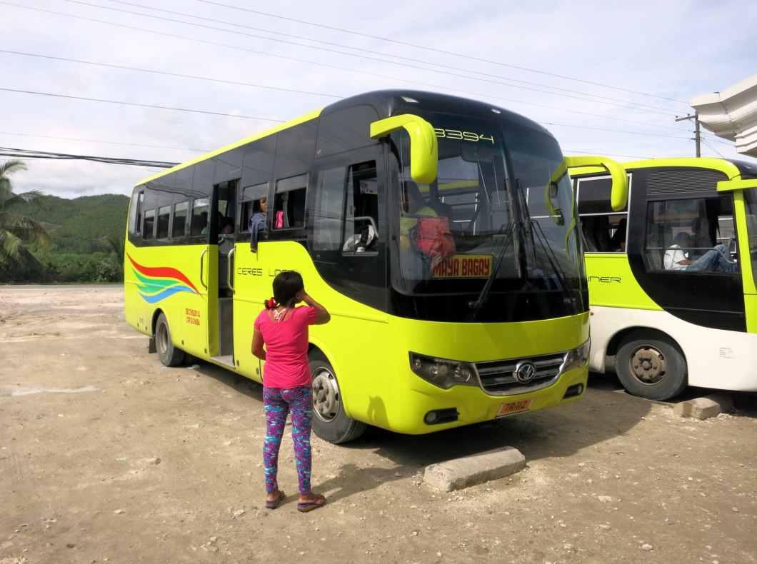 Bus from Cebu CIty to Maya / Malapascua Philippines
