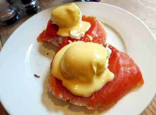 Eggs benedict Scottish smoked salmon Edinburgh Scotland